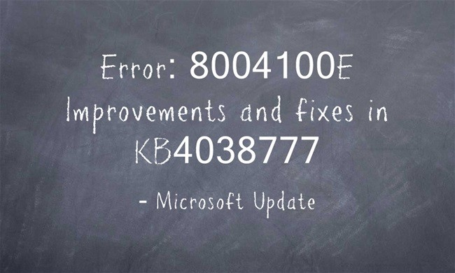 Windows 7 In-Place Upgrade to Windows 10 – Error: 8004100E